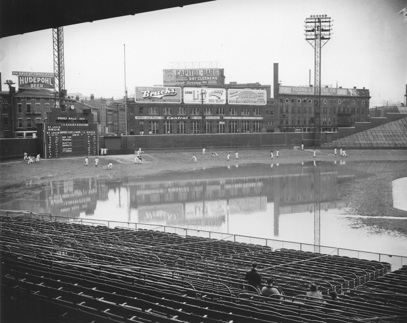 Crosley Field Flooded Just Before Opening Day
