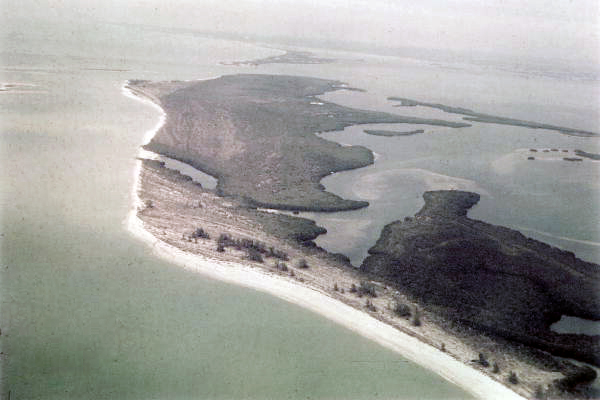 Aerial View of Cayo Costa, Lee County, FL c. 1968 (State Archives of Florida/Knetch).