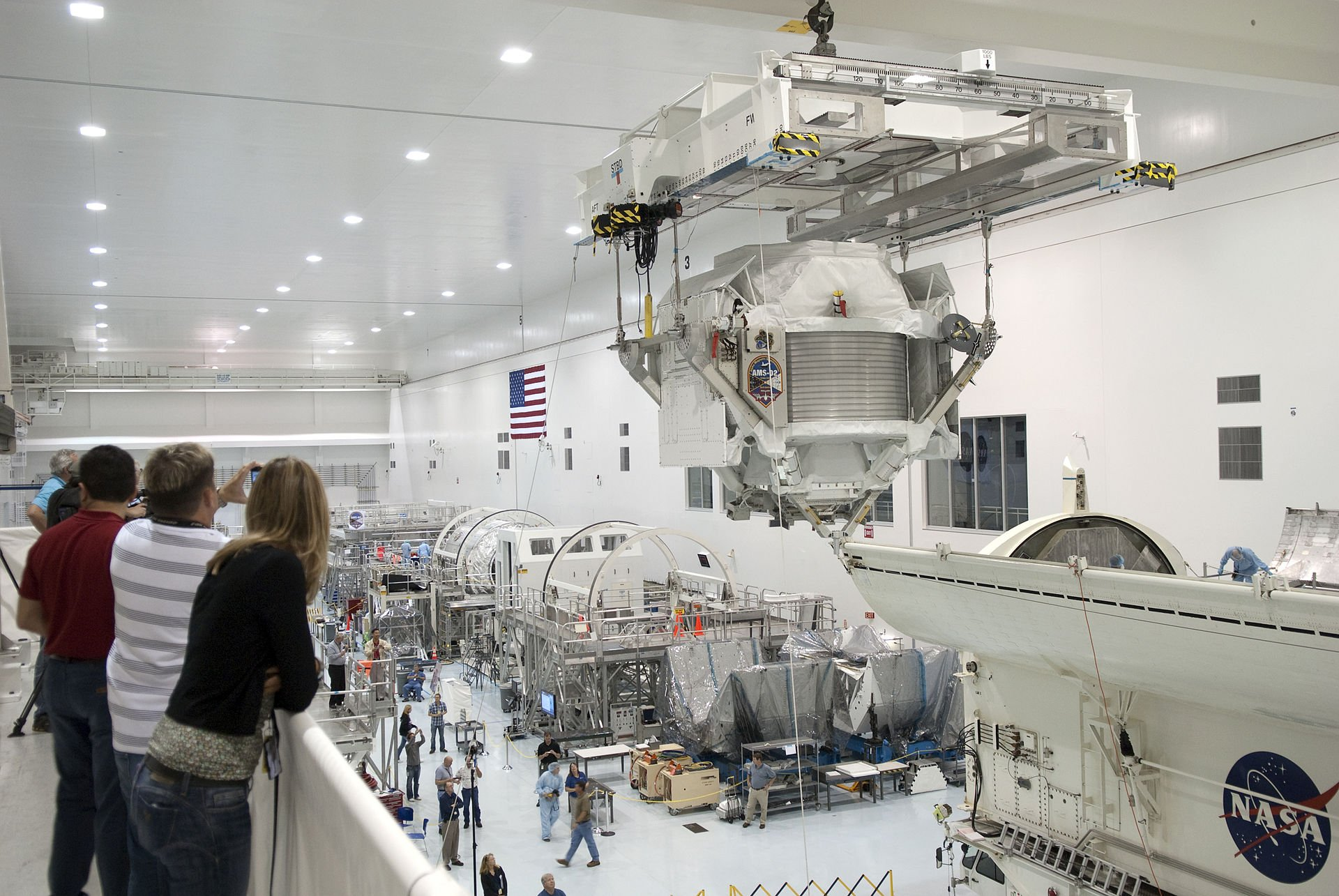KSC's Space Station Processing Facility prepares a spectrometer, an instrument for the International Space Station to conduct experiments. Courtesy of NASA, 2011.