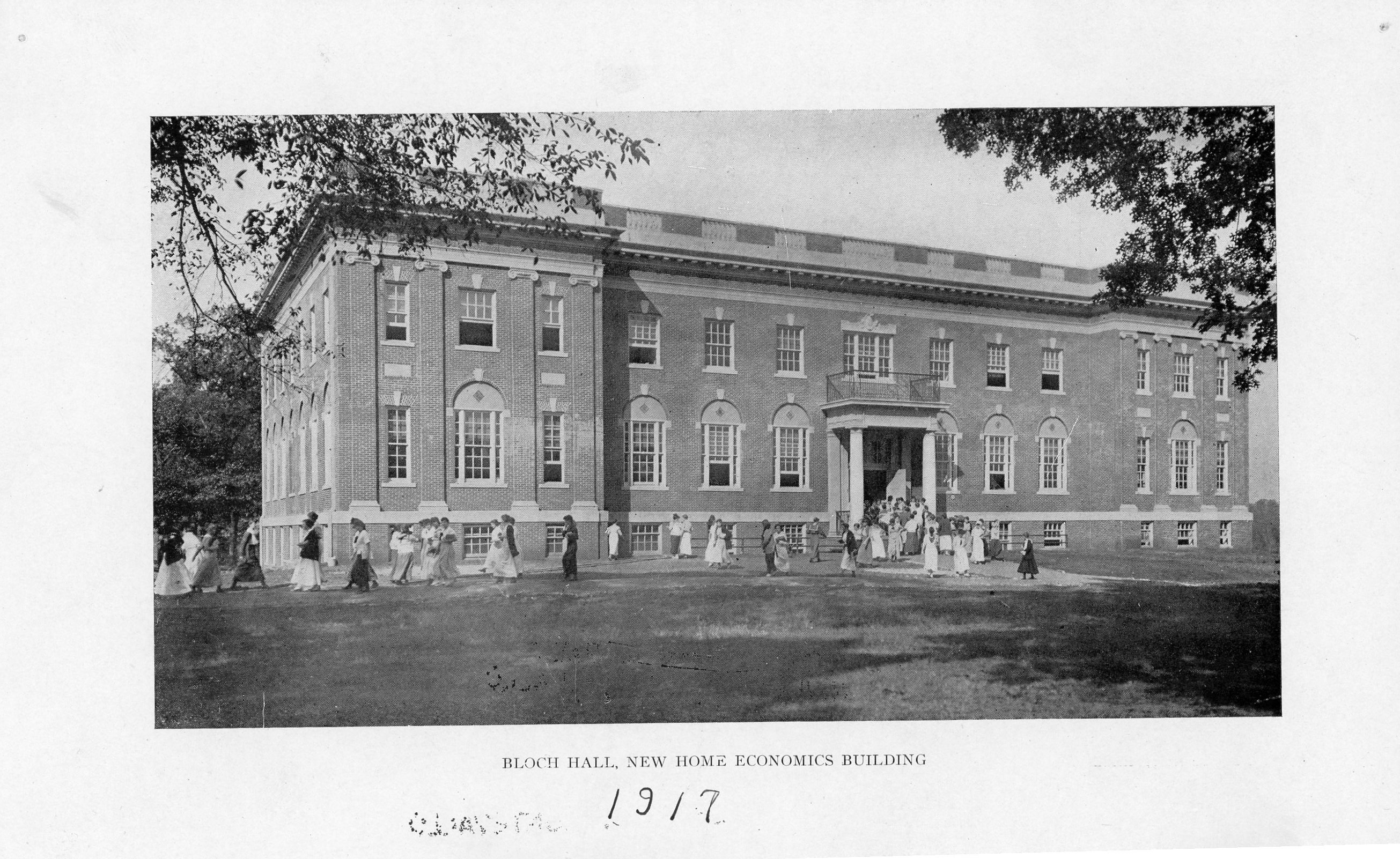 A picture of Bloch Hall from the 1917 course catalog