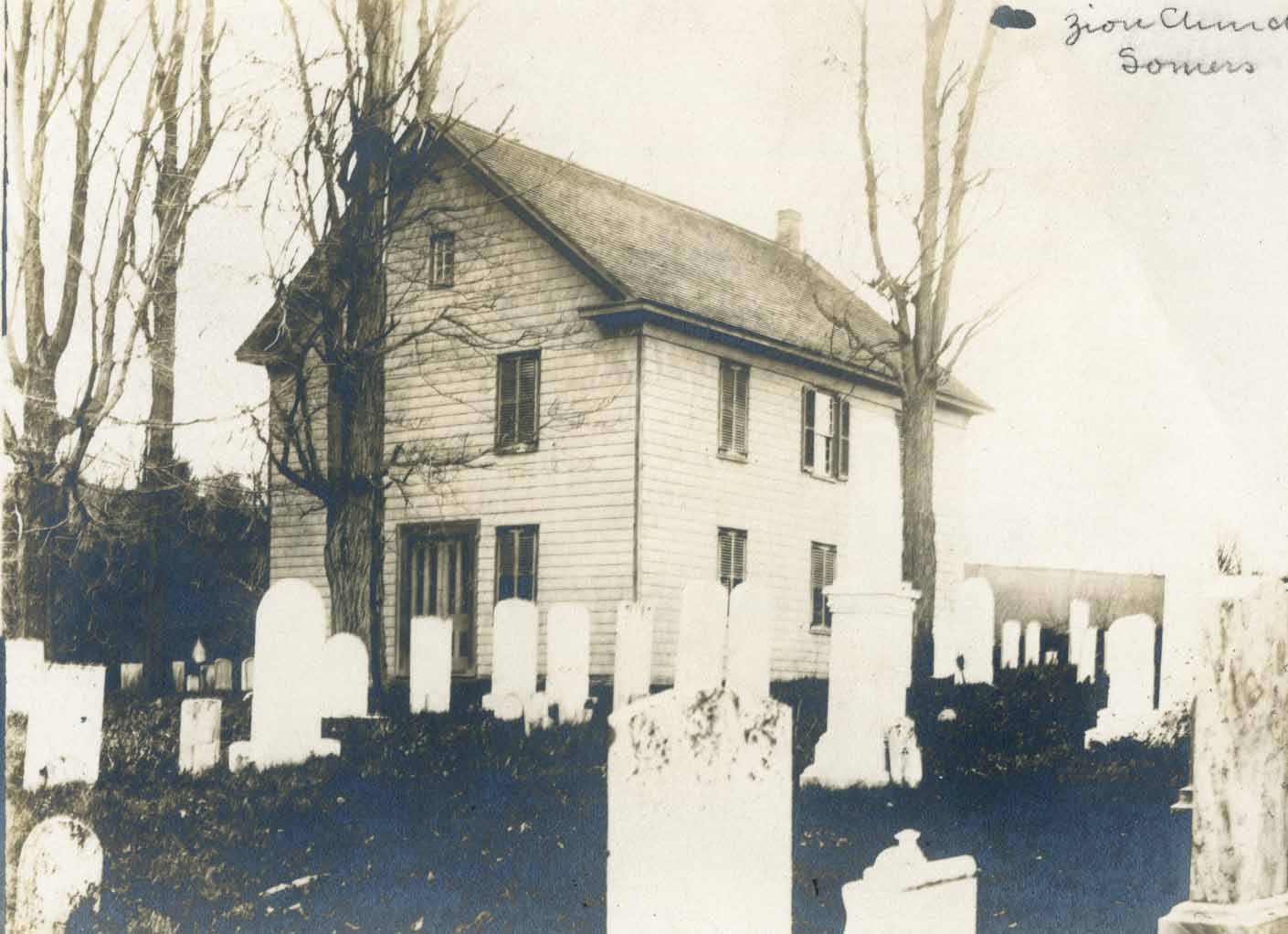 Mt. Zion Methodist Church in the early 20th century.