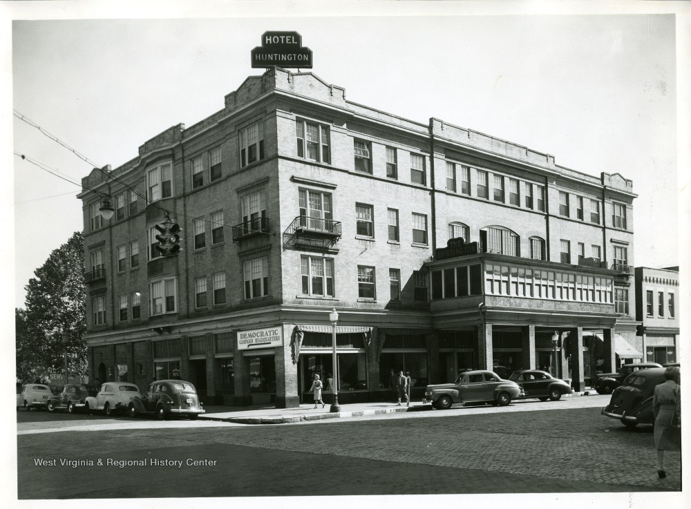 The Hotel Huntington, with the Democratic Campaign Headquarters on its ground floor