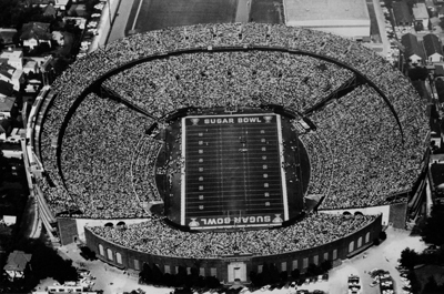 Bird's-Eye view of Tulane Stadium as the host of the Sugar Bowl