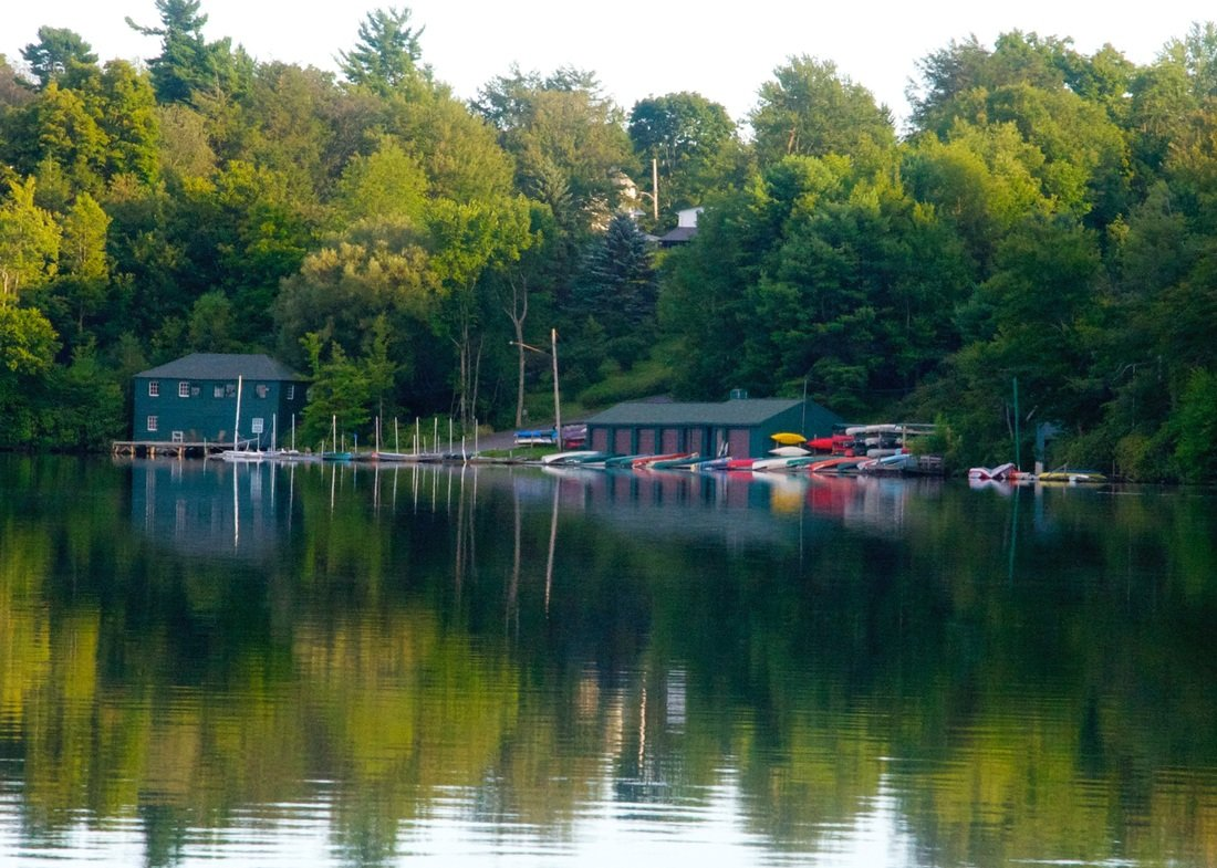 One of the numerous boat houses that dot the lake's shoreline.