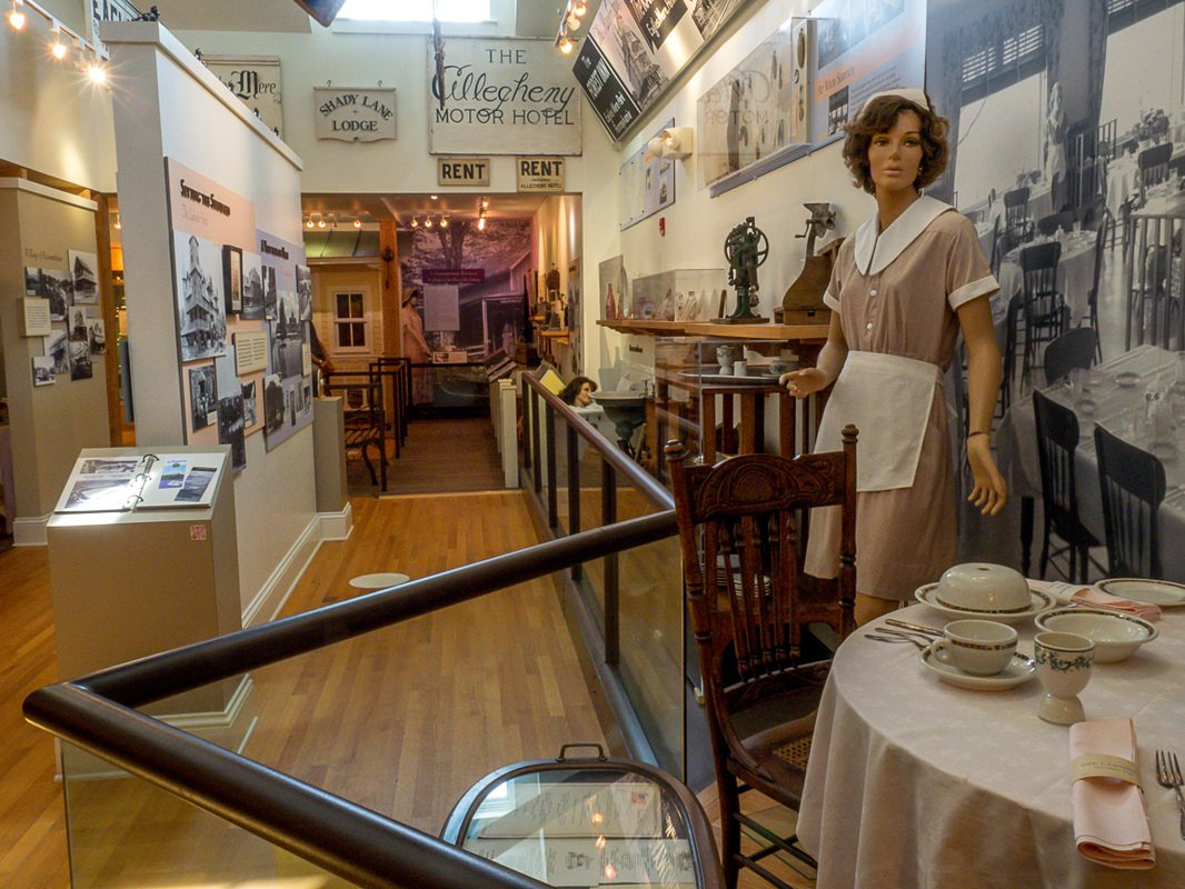 Inside the Eagles Mere Museum.