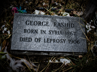 Headstone added in 1986