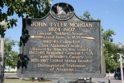 Marker of John Tyler Morgan's home in 1838