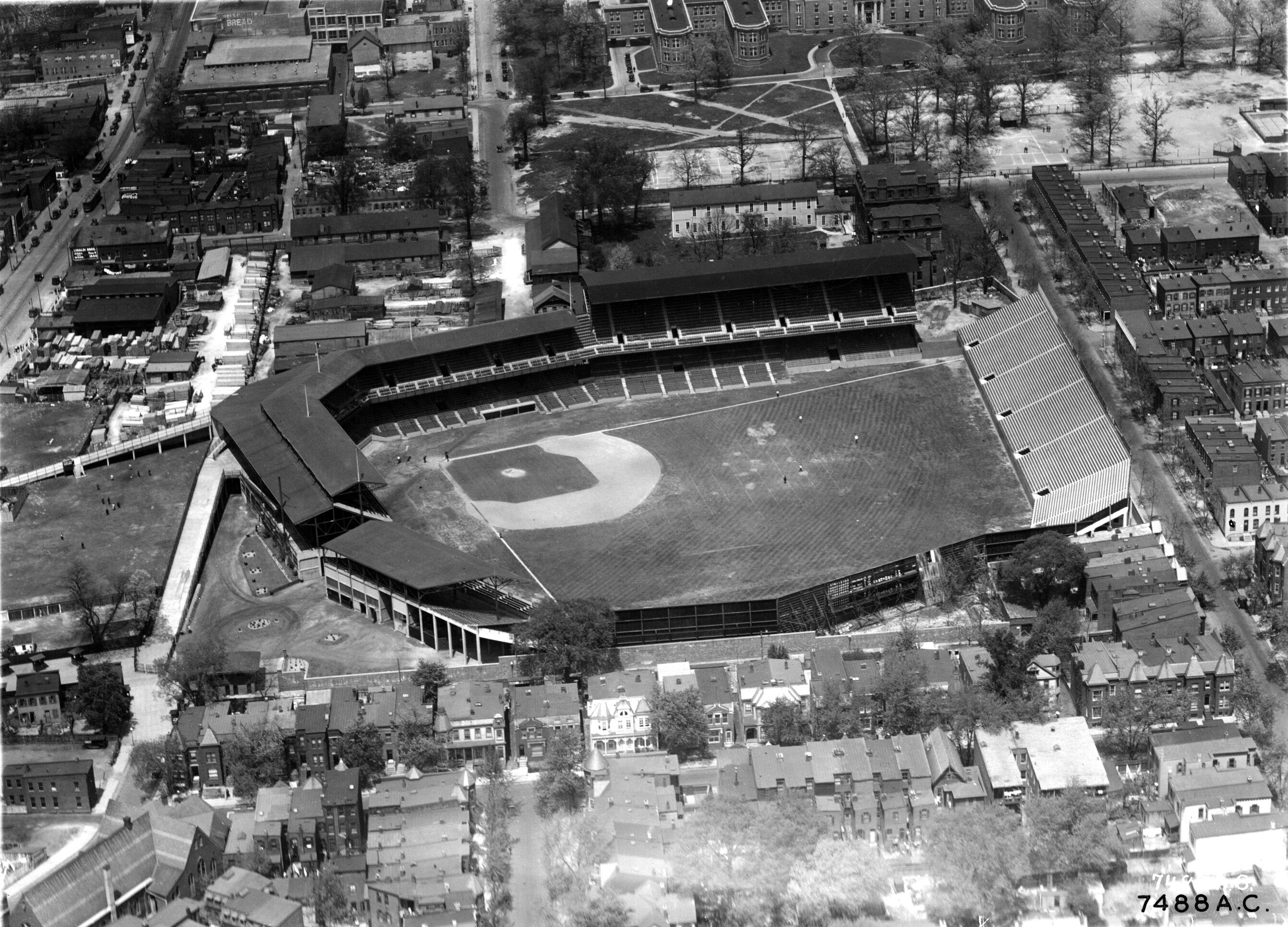 Aerial View of Griffith Stadium