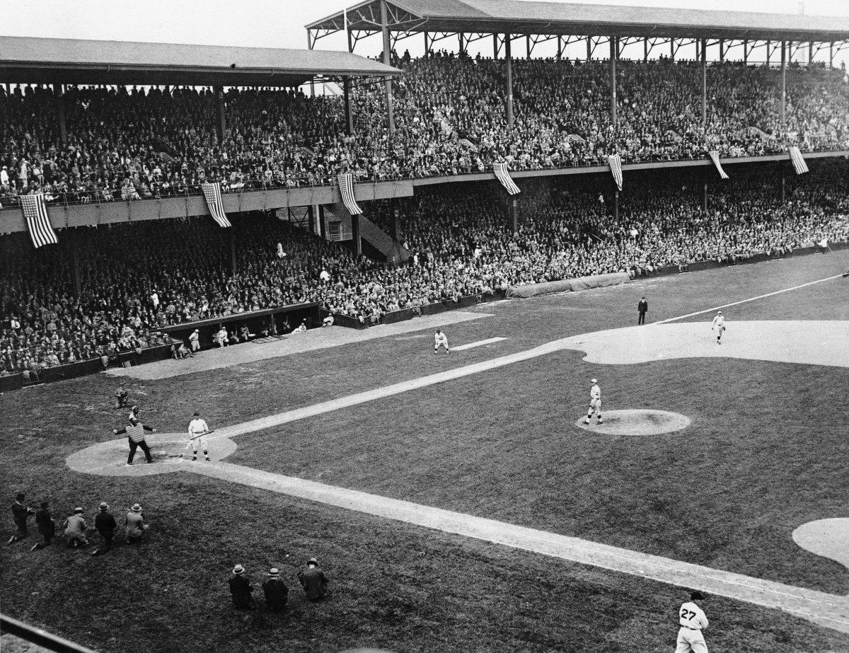Griffith Stadium During Game