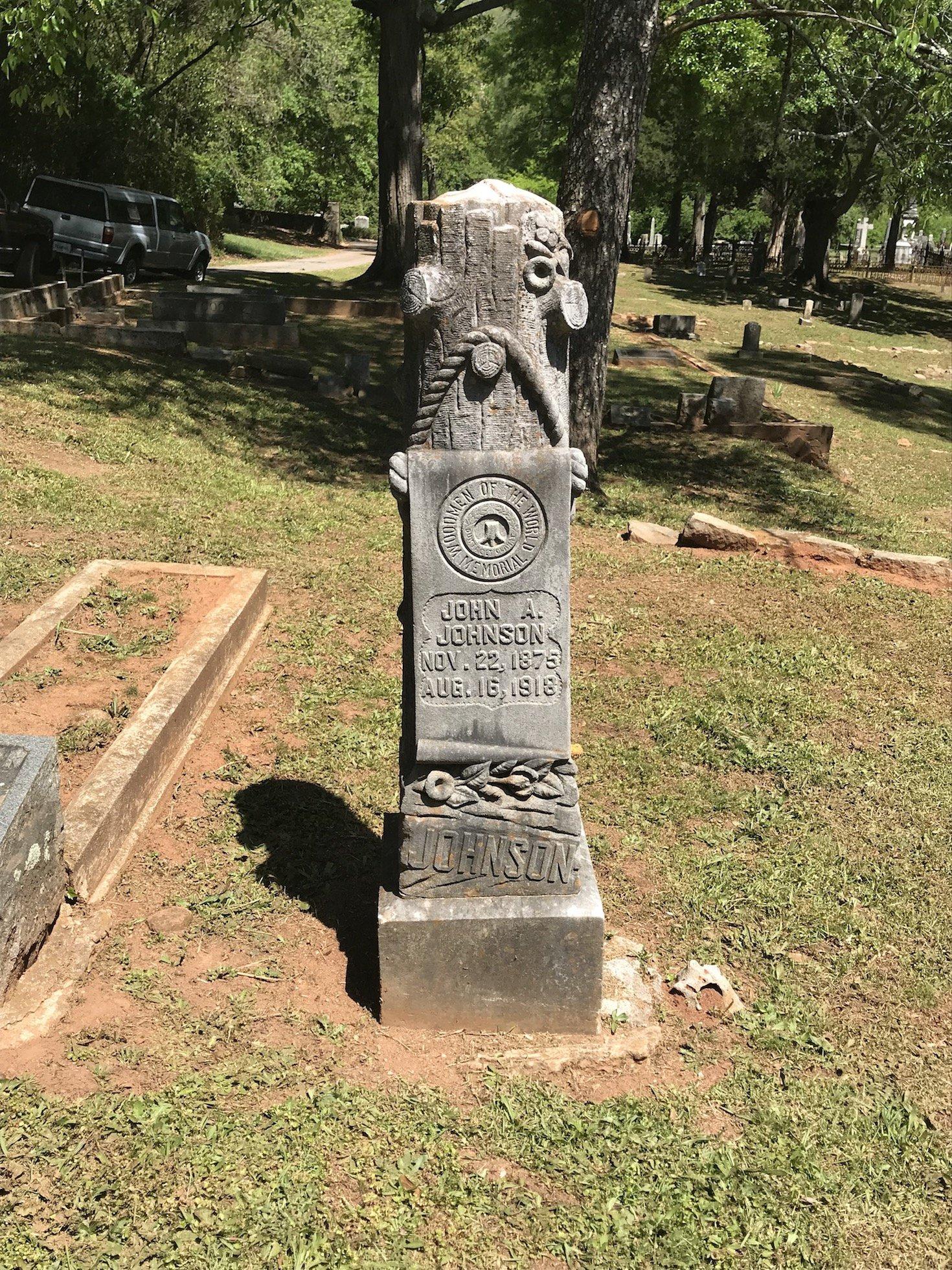 Ornate Victorian tomb stone
