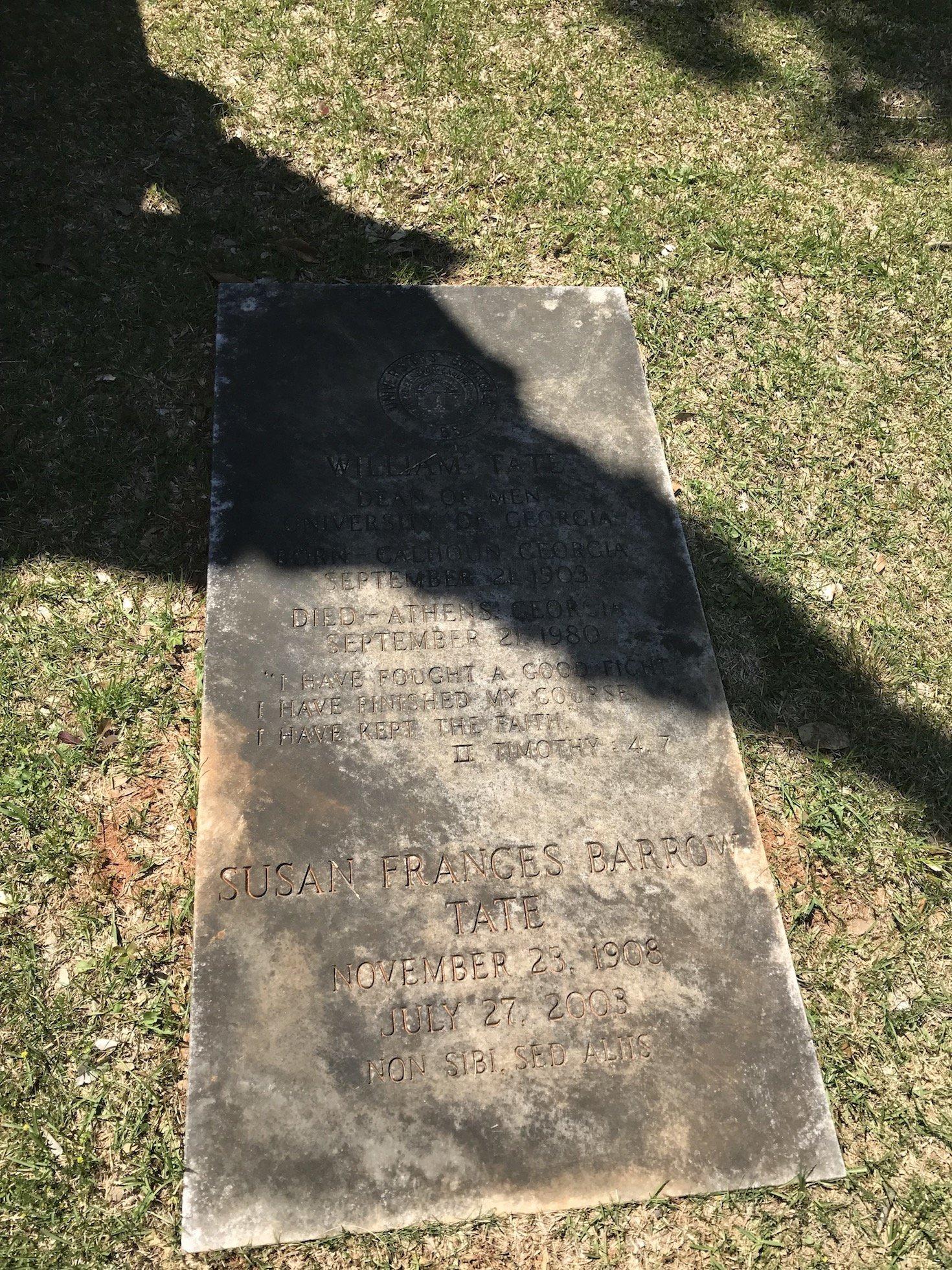 University of Georgia Dean William Tate grave site