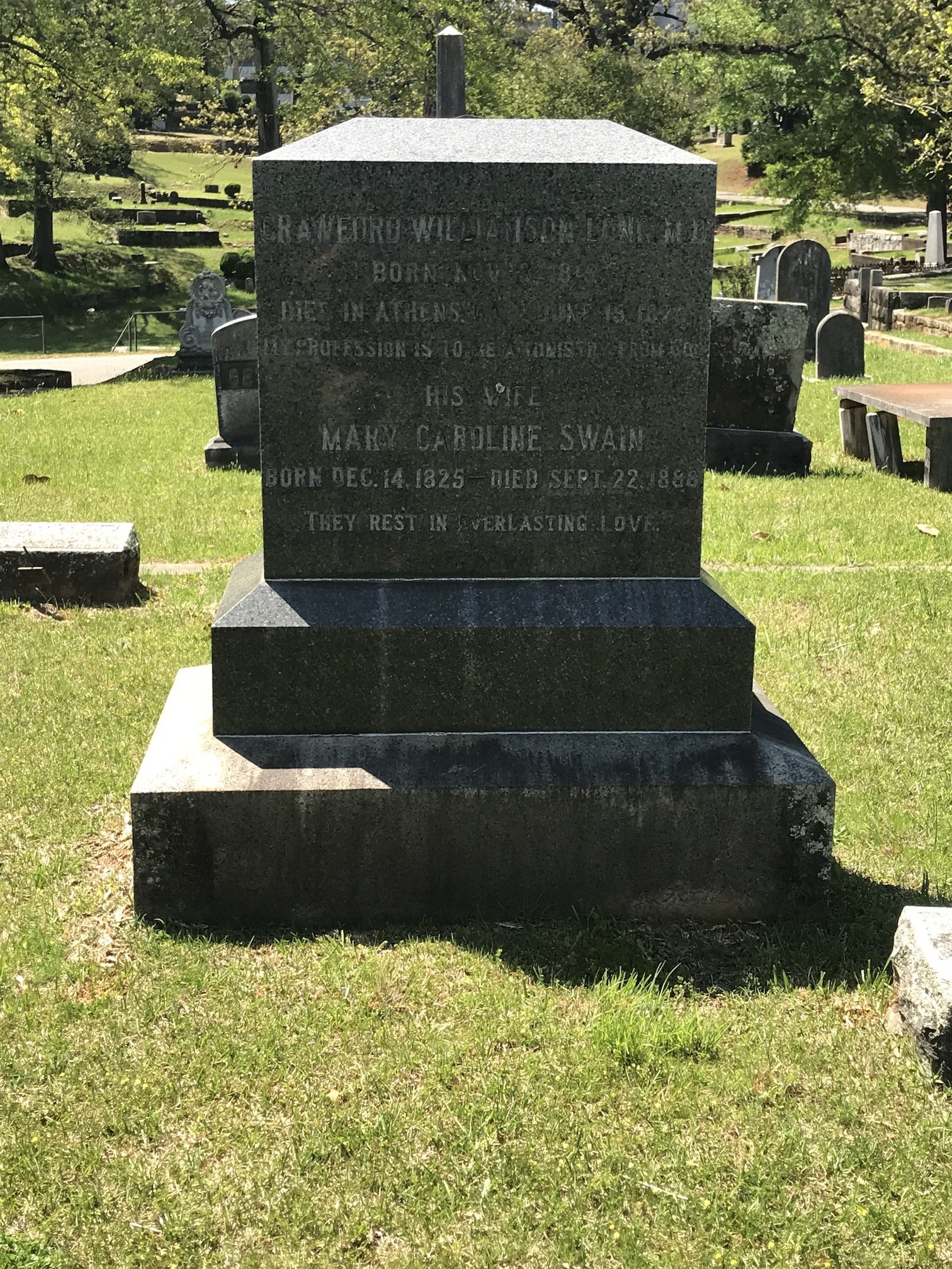 Crawford Long tomb stone