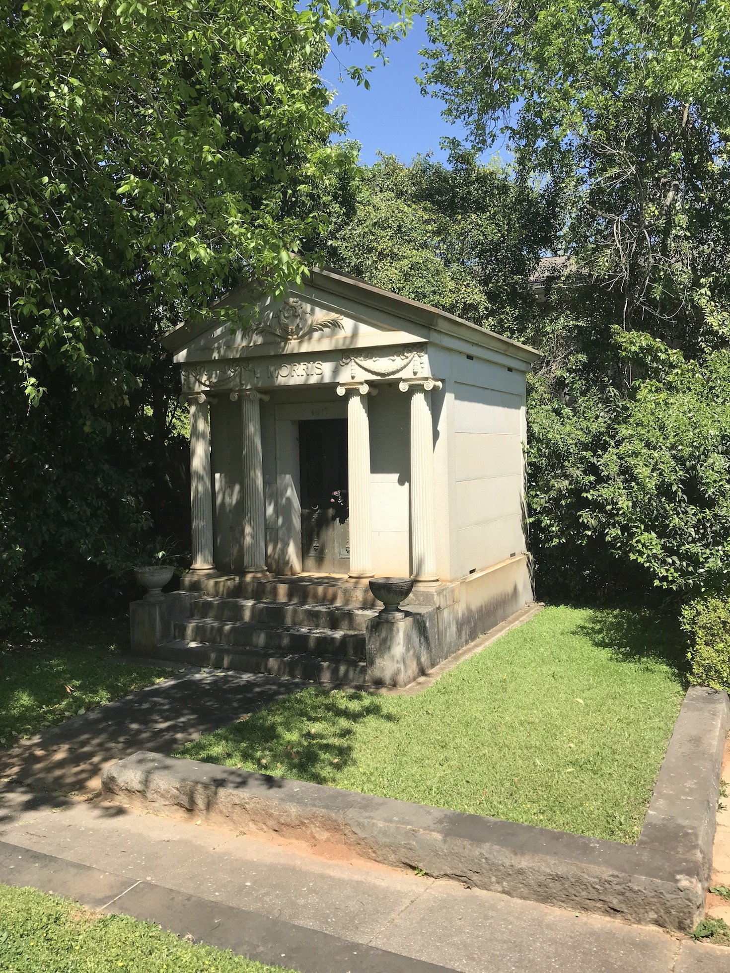 Mausoleum in Jewish section of cemetery