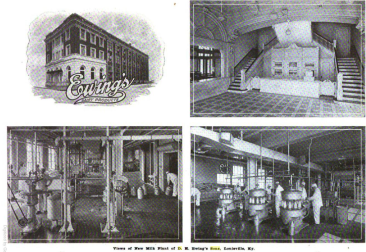 1918 photos and prints of the Ewing & Sons' Creamery from the December 1918 issue of The Creamery and Milk Plant Monthly