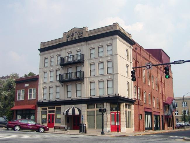 The Morton Building has housed an array of black-owned businesses for more than a century, including barber shops, doctors' offices, a funeral home, a dentistry practice, drugstore and, most famously, the Morton Theater.
