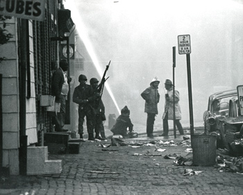 Some of the damage caused by the riots