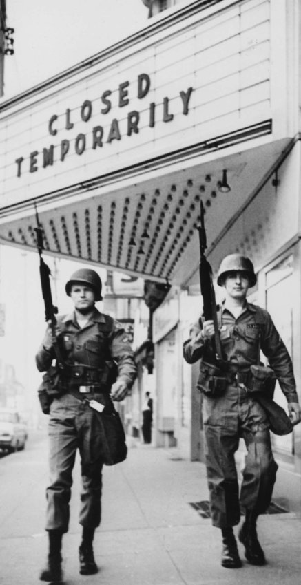 National Guardsmen on duty in Wilmington