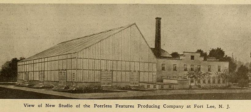 The exterior of the Peerless Studio.