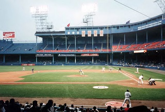 Tiger Stadium after renovations in 1977