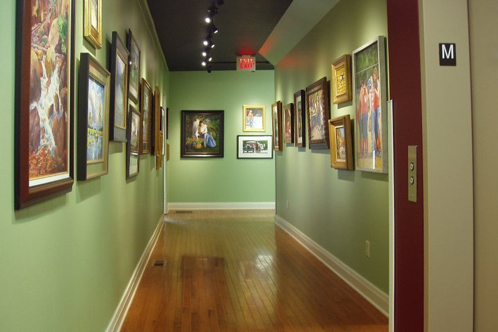 Hallway gallery. Credit: The Coutts Museum of Art