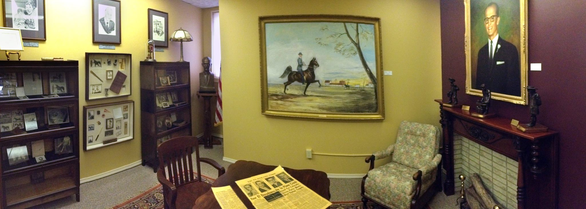 A gallery with some memorabilia and facts about the founder and his son. Credit: The Coutts Museum of Art