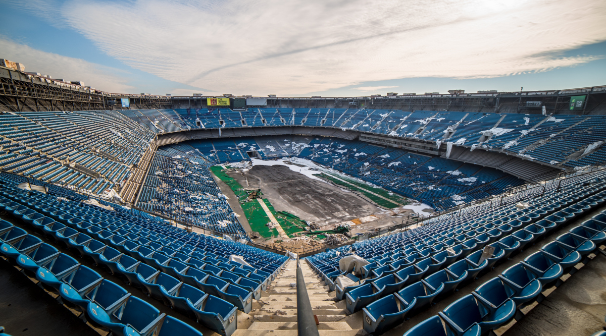 The Silverdome fell into disrepair following the departure of the Detroit Lions despite multiple attempts to redevelop the property.