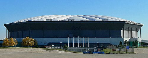 Once the largest stadium of any NFL teams, the Silverdome is in the process of being demolished.