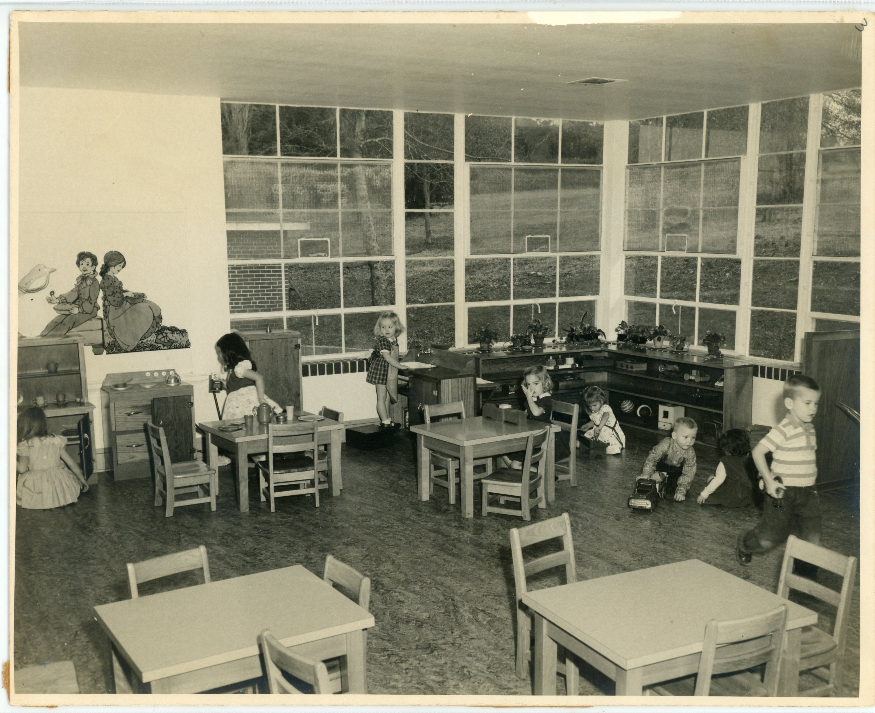 Inside a classroom at the Child Study Laboratory.