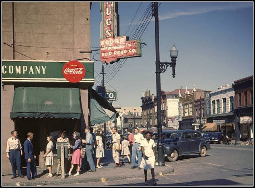 Athens Georgia, Corner of Clayton Street and Lumpkin circa. 1940s