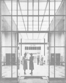 The original entrance of the Ilah Dunlap Little Memorial Library. 1953.
