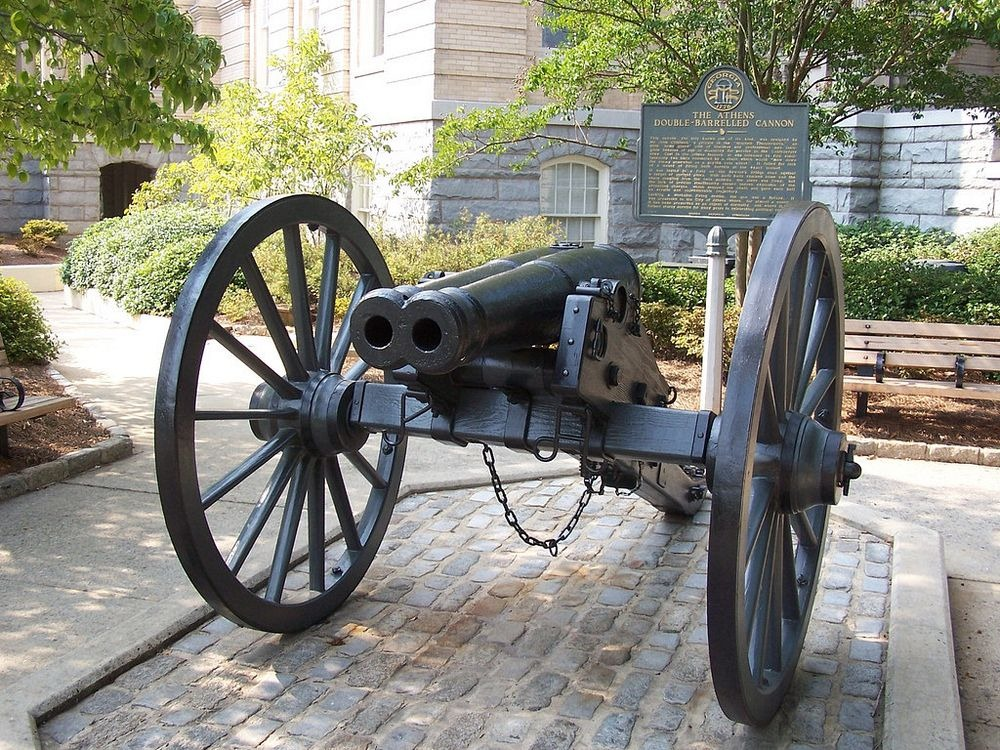 The cannon as it appears today at City Hall.