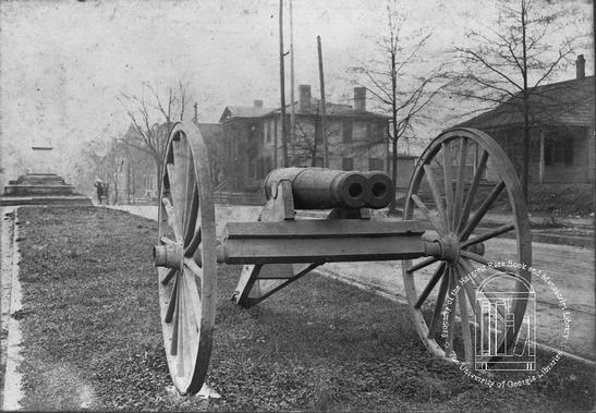 Am image of the cannon before it was in it's current location at City Hall.