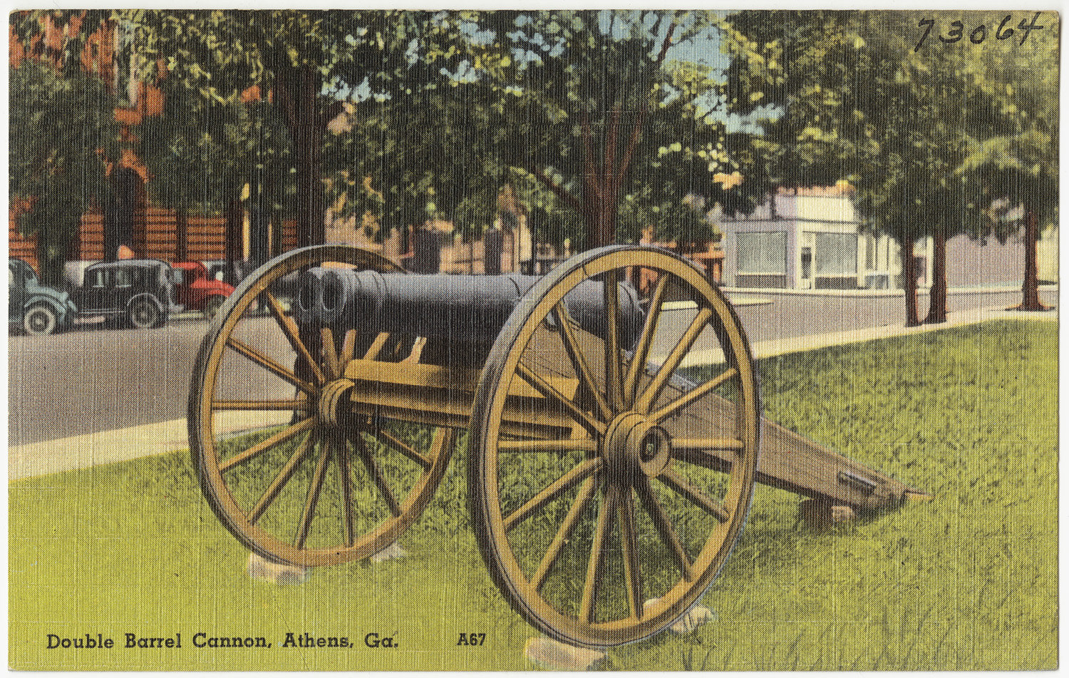 A postcard featuring the cannon.
