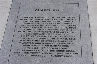The marker in front of the Chapel Bell. 