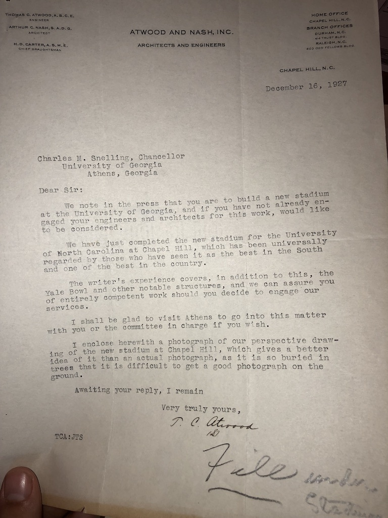 T.C., Atwood. Letter to Charles M Snelling
