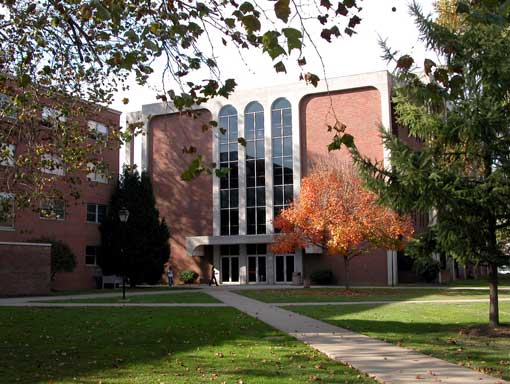 Harris Hall was built in 1975 and is home to many of Marshall's humanities programs.