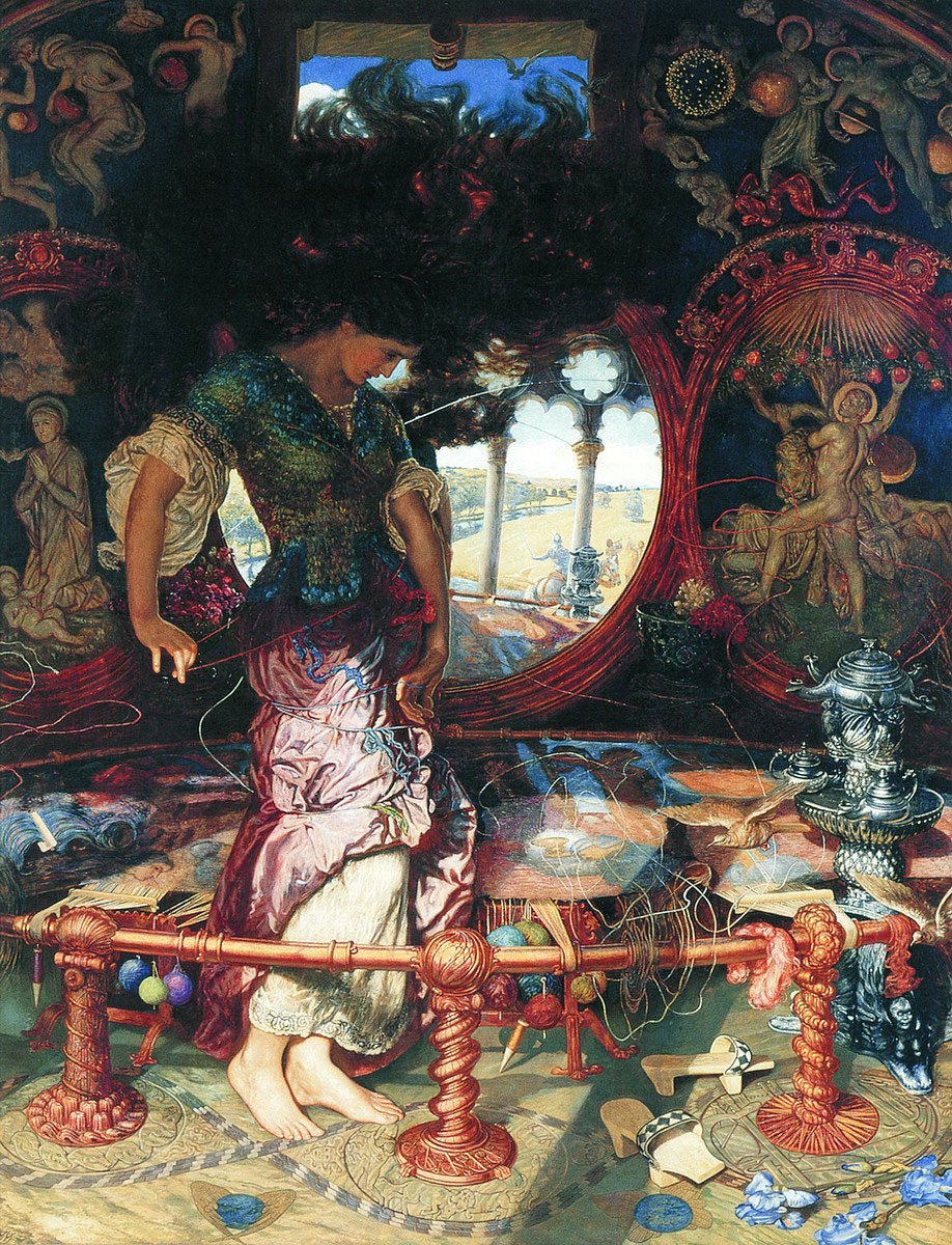 "William Holman Hunt's ""The Lady of Shalott"" from the Wadsworth Atheneum's collection."