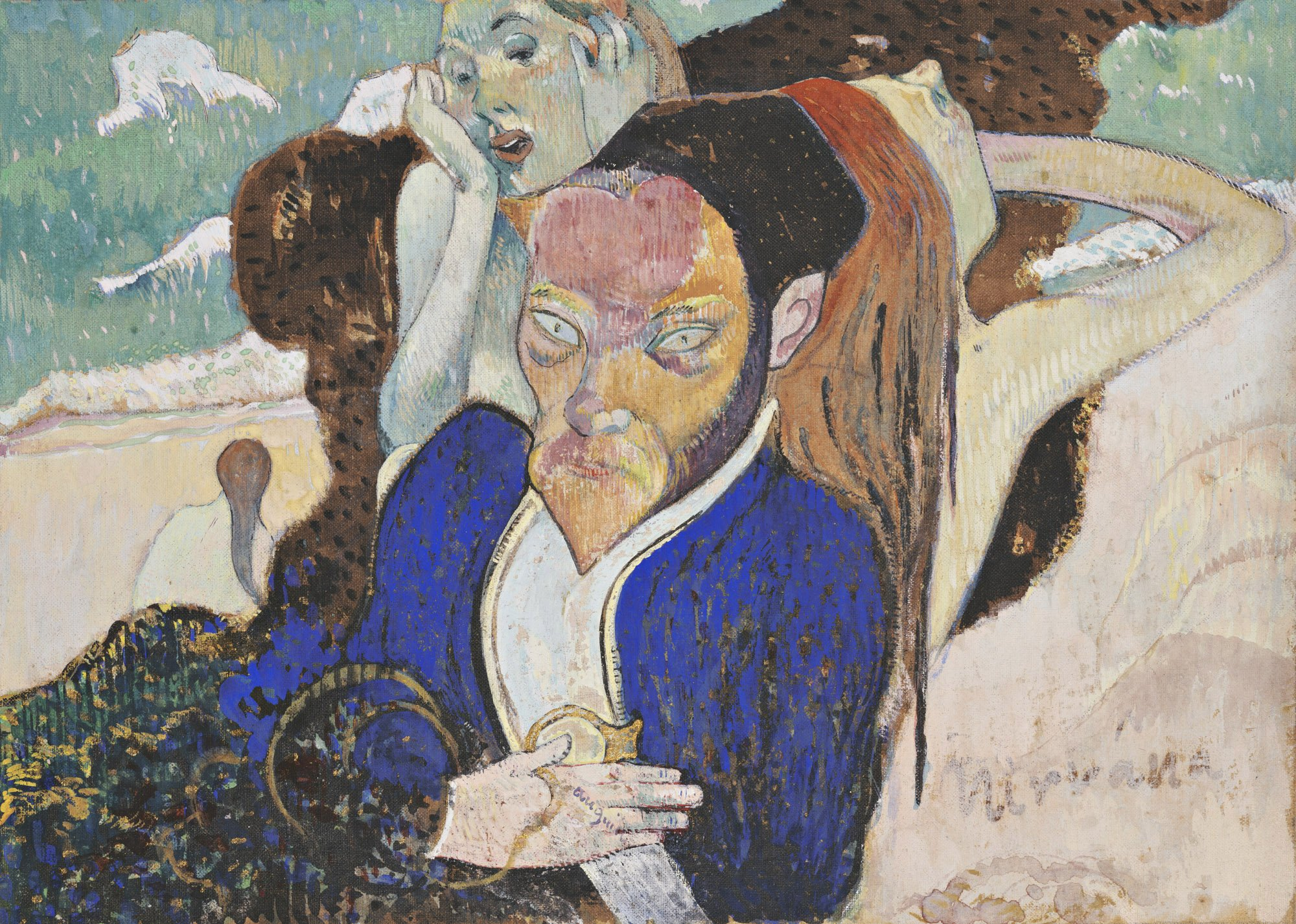 "Paul Gauguin's ""Nirvana, Portrait of Jacob Meyer de Haan"" from the Wadsworth Atheneum's collection."