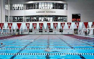 Gabrielsen Natatorium, home to UGA Swim&Dive in the Ramsey Center