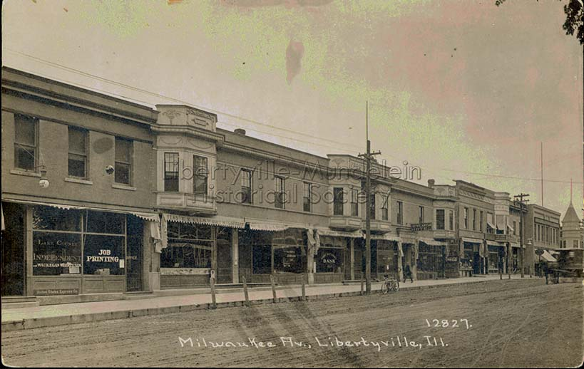 Lake County Independent office, far left, 1905-1913