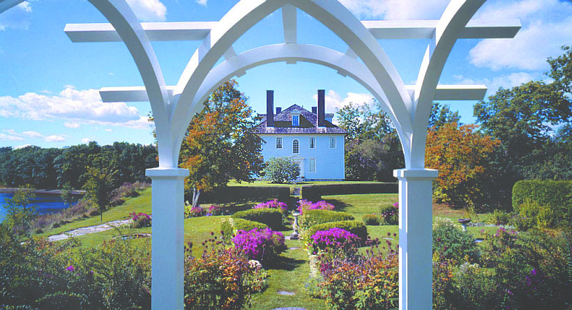 Emily Tyson and her Stepdaughter, Elise, added the gardens in the early 20th century which have since been rehabilitated.