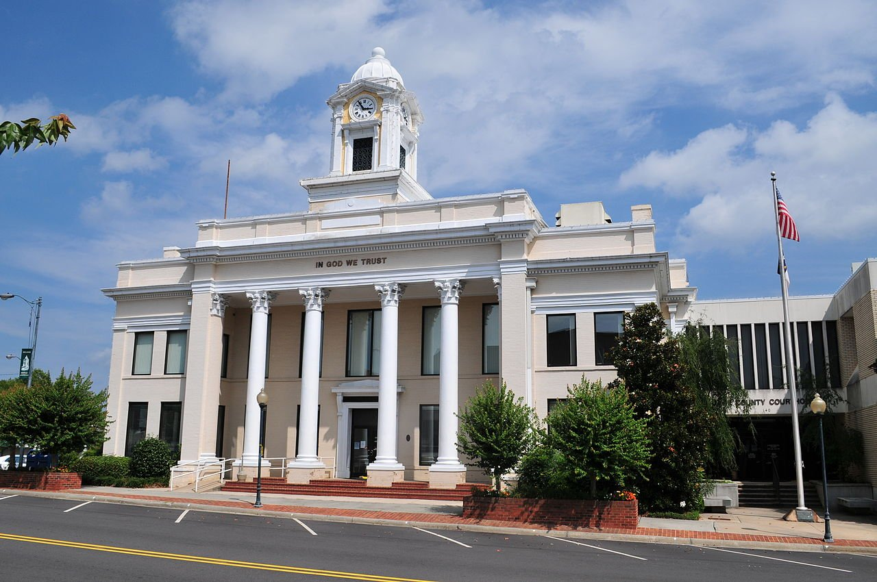 Davie County Courthouse was constructed in 1909 and is located in the heart of Mocksville, North Carolina.