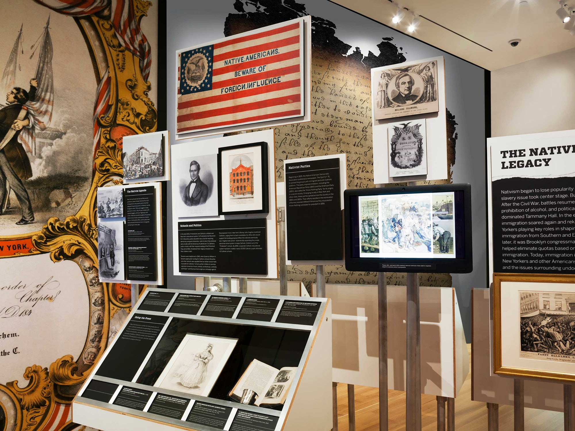 The museum also presents a variety of other temporary and permanent exhibits, such as this one on activism. Image obtained from Pentagram.