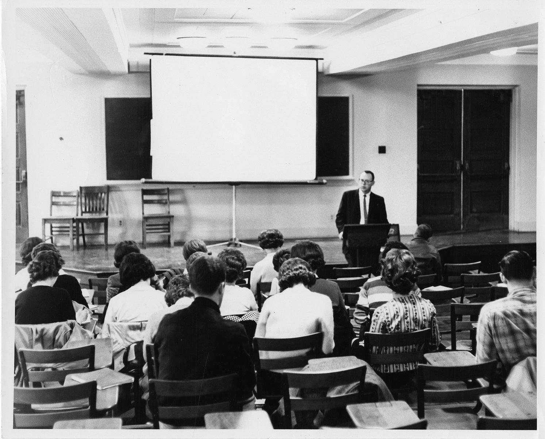 Class in session, circa 1960s.