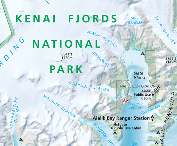 Kenai Fjords National Park map (photo credit: http://cooklowery15.wikis.birmingham.k12.mi.us/Maps+of+Kenai+Fjords+National+Park)