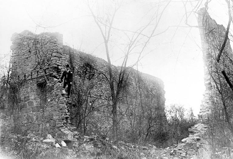 The ruins in the early 1900s