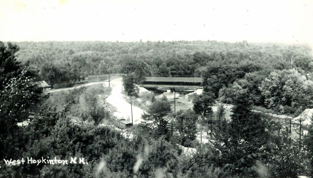 Image of West Hopkinton after construction of the Hopkinton-Everett Dam.