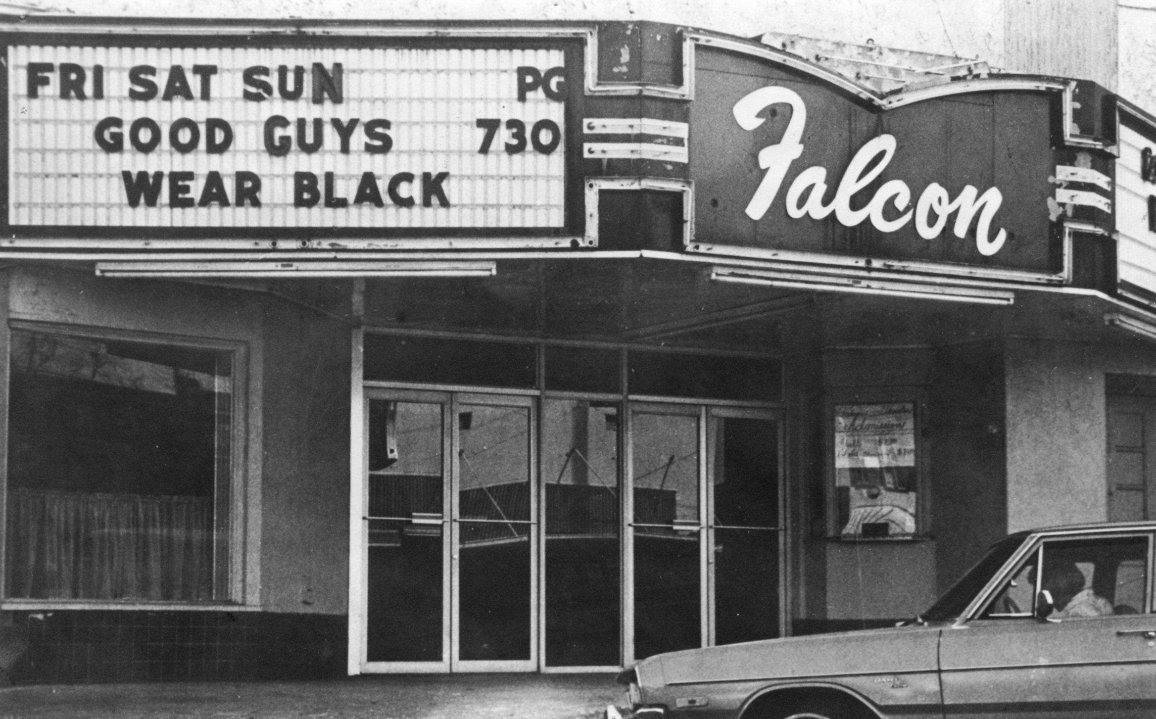 """Strand Theatre when it was known as """"Falcon"""" Theatre c. 1978."""