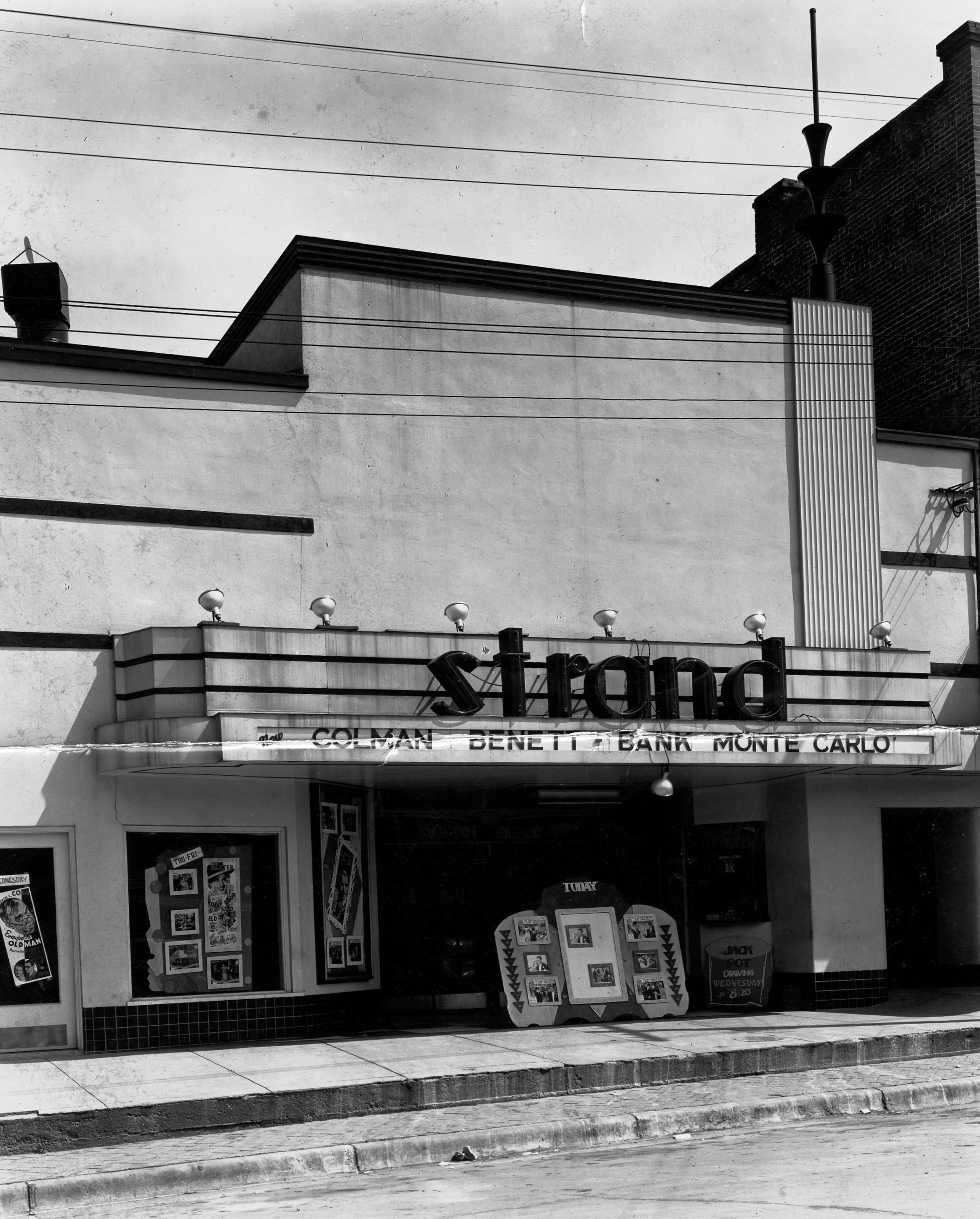 The Strand Theatre decked out in Art Deco style, c. 1935.