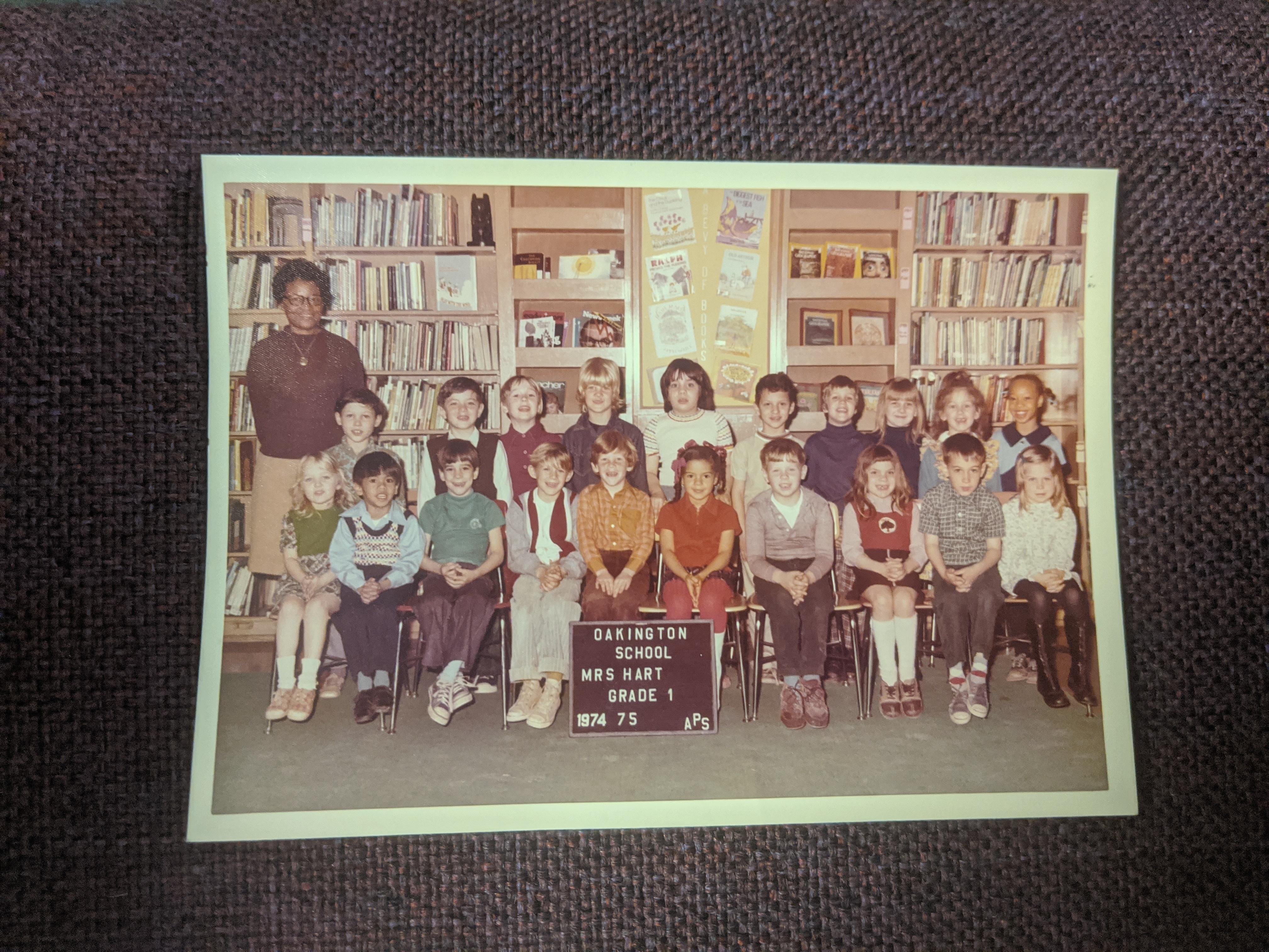 Class photo from Oakington Elementary.